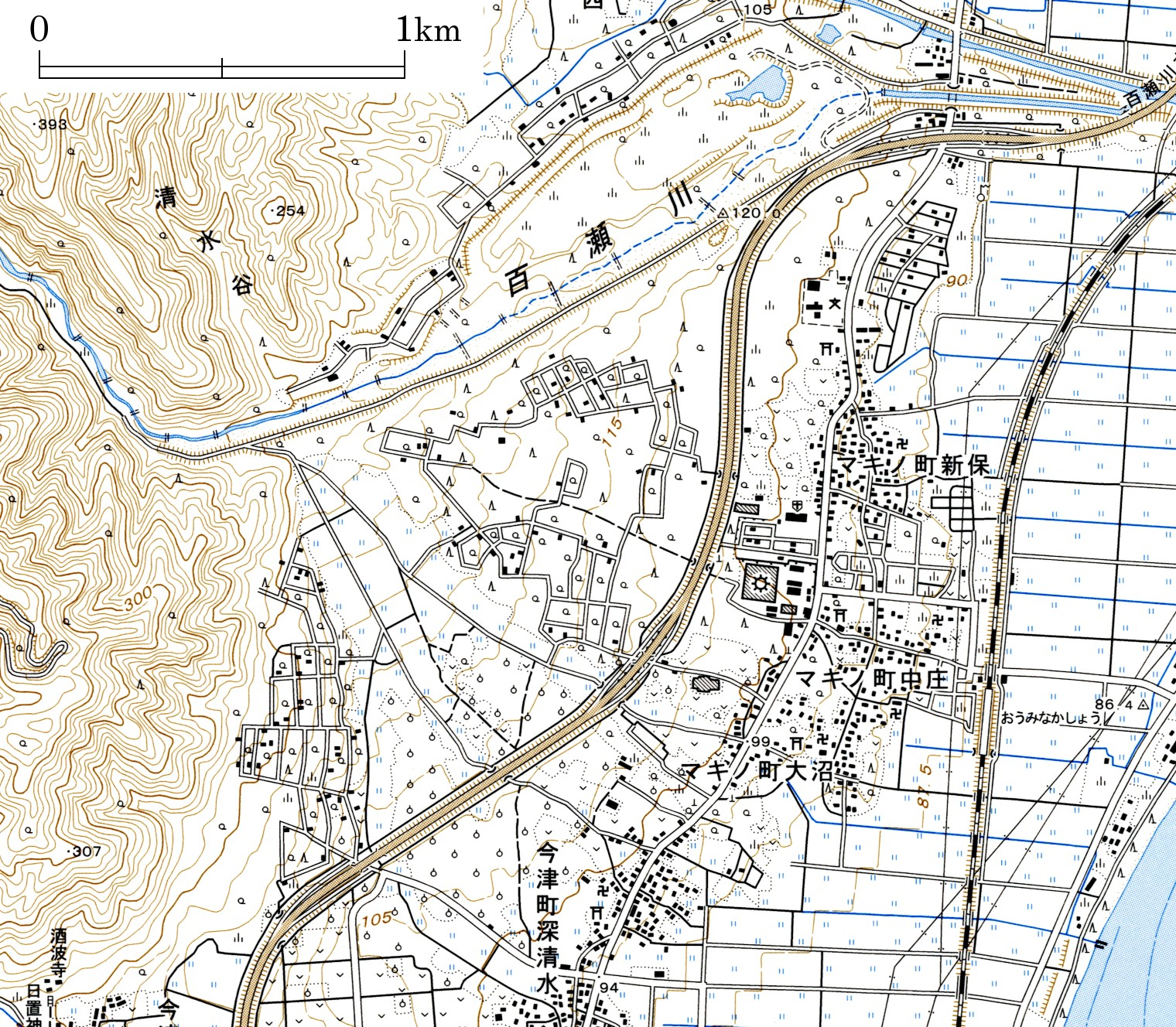 Alluvial Fan Topographic Map : a4 地図 印刷 : 印刷